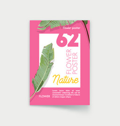poster with palm leaves nature exotic tropical vector image