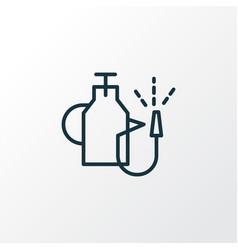 Pump sprayer icon line symbol premium quality vector