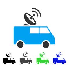Radio control car flat icon vector