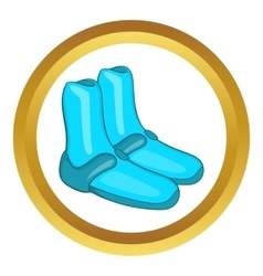 Reef shoes for surfboard icon vector