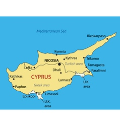 Republic of Cyprus - map vector image
