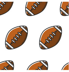 rugball or american football equipment seamless vector image