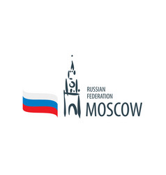 russia sign drawn hand on a white vector image