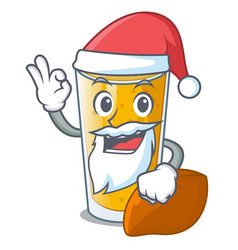 Santa lassi mango in the character fridge vector