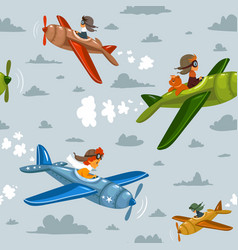 seamless background airplane vector image