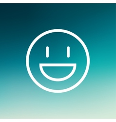 Smiling thin line icon vector image