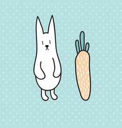 standing rabbit vector image