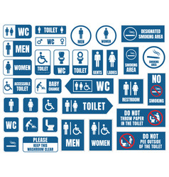 Toilet signs toilet icons set wc signs vector