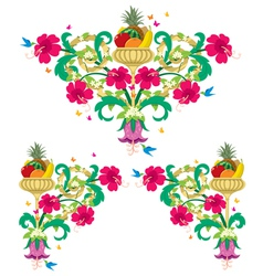 tropical floral borders vector image