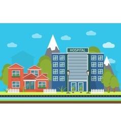 Urban landscape poster vector