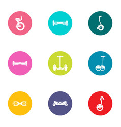 Urban transport icons set flat style vector