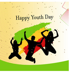 Vintage template card international youth day vector