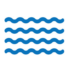 Waves icon vector