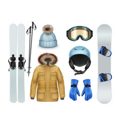 Winter sports stuff vector