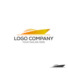 yacht logo simple of yacht icon for web vector image