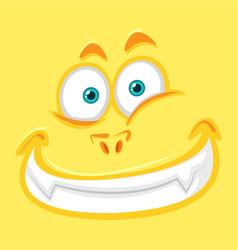 Yellow monster facial expression vector