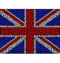 British flag symbol of anarchy vector image vector image