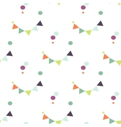 Bunting flag and confetti pattern vector
