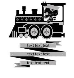 calavera-train vector image