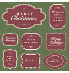 holiday frame set vector image