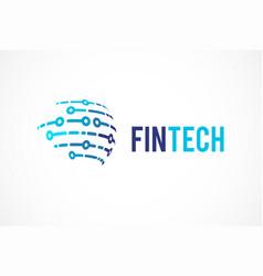 logo concept for global digital finance industry vector image vector image