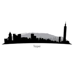 Taipei Skyline vector image