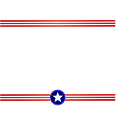 usa flag red blue frame vector image vector image