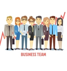 Business team concept with man and woman vector image vector image