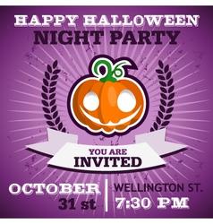 Happy Halloween Party Invitation vector image vector image