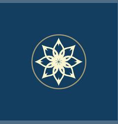 luxury logo lotus logo vector image