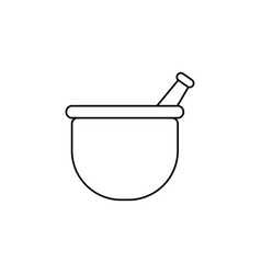 mortar icon vector image vector image