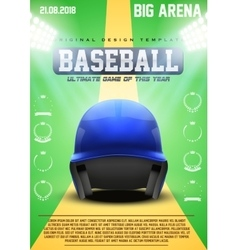 Poster Template of Baseball vector image vector image