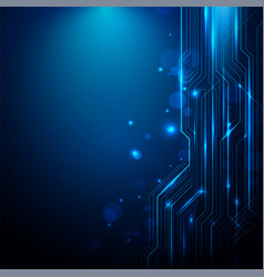 abstract lines circuit blue and white lights vector image
