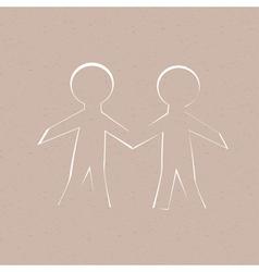 Paper Human vector image vector image