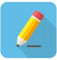Pencil draws a line icon vector image vector image