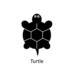 turtle icon silhouette icon vector image vector image
