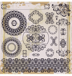 arabic pattern on blot background vector image
