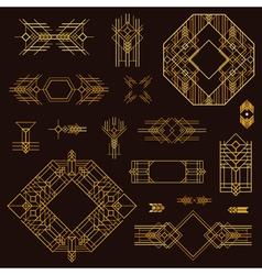 Art Deco Vintage Frames and Design Elements vector image vector image