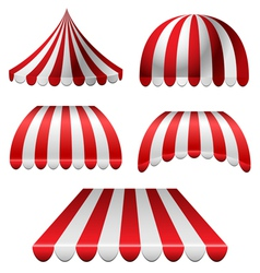 Awning set vector image vector image