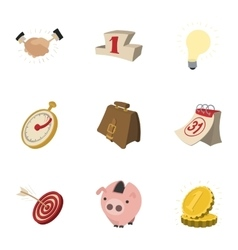 Corporation icons set cartoon style vector image vector image