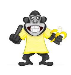 cute monkey icon vector image vector image