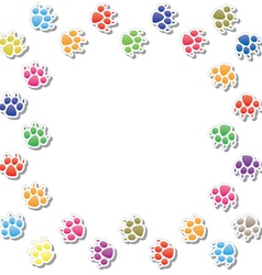 dog prints vector image vector image