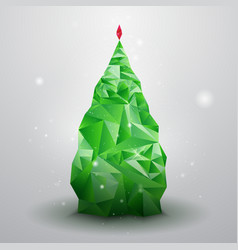 Glassy Christmas Tree vector image