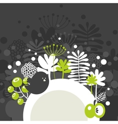 Half round banner with spring nature vector image vector image
