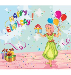 kids birthday party vector image vector image
