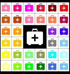 medical first aid box sign felt-pen 33 vector image