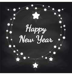New year card design on chalkboard vector image
