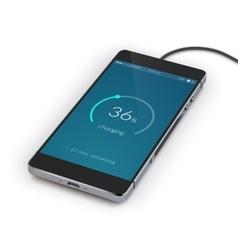 Smartphone Charging Realistic vector image