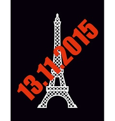 13 november 2015 terrorist attack in paris vector