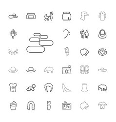 33 beautiful icons vector